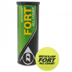 Мяч, DUNLOP, 601234, Fort All Court 3B, 3шт/уп